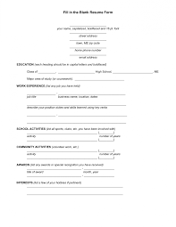 Resum Form 040 Resume Blank Forms To Fill Out In The Form Pdf For Free