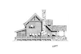 lodge style house plan stone cliff 45246 left exterior