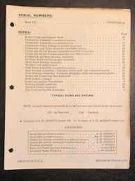 Vintage Mercury Marine Outboard Motor Spark Plug Chart
