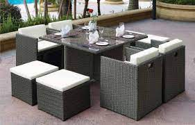 9 pieces compact patio dining table set