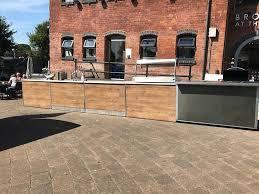 vintage wooden bar unit