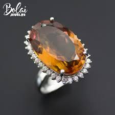 <b>Bolai</b> luxury big diaspore cocktail ring 925 sterling silver 14*22mm ...