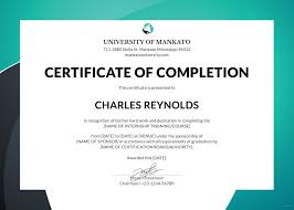 Sample Format Of Certificate Copy Free Internship Certificate