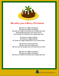 Free Printable Christmas Carols and Songs Lyrics