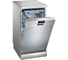Slimline Kitchen Appliances Buy Siemens Iq500 Sr26t891gb Slimline Dishwasher Silver Free