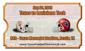 Texas Longhorns Vs Louisiana Tech Bulldogs Football Tickets