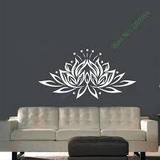lotus flower wall decor lotus flower yoga meditation wall art sticker decal home decoration decor wall mural removable bedroom