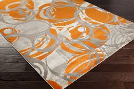 surya jax 5000 burnt orange light grey olive area rug