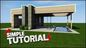 minecraft house tutorial wooden modern house best house tutorial you