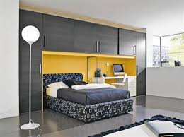 Make The Most Of Small Bedroom Bedroom Modern Leather Wall Bed White Mettrress Contemporary