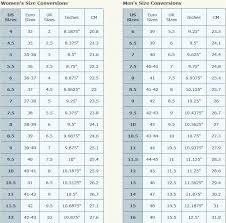 Clothes Stores Women To Men Shoe Size Conversion Chart