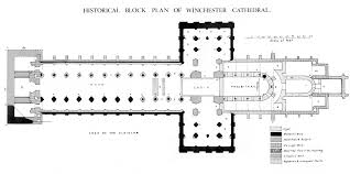 Medieval Winchester Cathedral-Plans And Drawings