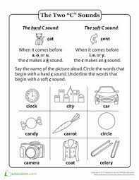 See our extensive collection of esl phonics materials for all levels, including word lists, sentences, reading passages, activities, and worksheets! Hard And Soft C Words Worksheet Education Com