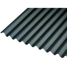 black corrugated roofing sheet