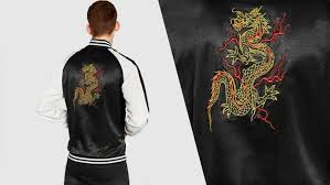 for those that prefer classic black and white this zara souvenir jacket might be the right fit the only jan marker would be the embroidered dragon