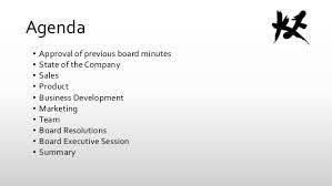 Sample Agenda For Board Meeting Barca Fontanacountryinn Com