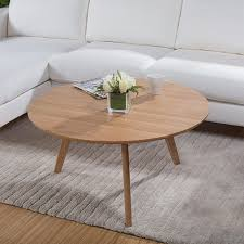 round wood coffee table rustic good wood coffee table scandinavian minimalist small apartment wood white oak coffee table