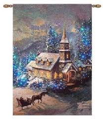 on christmas wall art tapestry with thomas kinkade wall hangings kincade tapestries