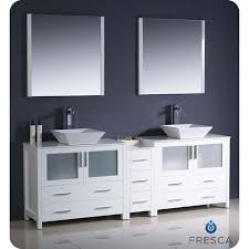 Bathroom Vanity Double Beauteous Fresca FVN4848WHVSL Torino 48 White Modern Double Sink