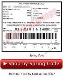Ford Leaf Spring Code Chart Ford Full Size Van Leaf Springs Sd Truck Springs Leaf