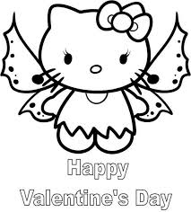 This cute set of hello kitty valentines coloring pages is a perfect addition to your child's valentine's day festivities. Hello Kitty Angel Coloring Pages Kitty Coloring Hello Kitty Colouring Pages Hello Kitty Coloring