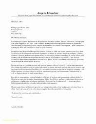 Top Result Financial Analyst Sample Cover Letter Inspirational Cover