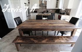 gray reclaimed harvest table