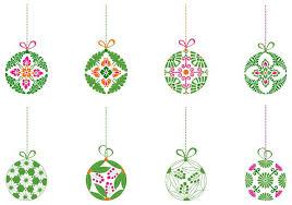 Decorating Christmas Ornaments Balls Decorative Christmas Ball Ornament Vector Pack Download Free 34