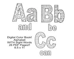 One of the earliest and most important things kids learn is the alphabet. Letters Coloring Pages 26 Coloring Pages 8 5x11 Uppercase Etsy