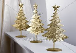 Royalty-Free Stock Photo: Three Metal Christmas Tree Decorations