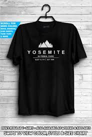 Colors Of California Size Chart Yosemite National Park Shirt California America Usa State Park Mountains Camping Hiking Family Holiday Trail Elevation Tee Gift Dad Family
