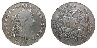 1795 Draped Bust Silver Dollar Centered Bust Coin Value