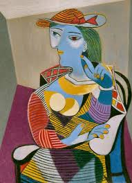 seated woman marie therese by pablo picasso