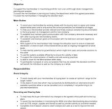 Visual Merchandiser Job Description Resume Template Retail Pictures