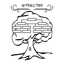 Template Family Tree Template Kids Artistic Blank Printable For The