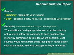 Report Business How To Write A Business Report With Pictures Wikihow