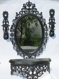 vintage scrollwork framed mirror wall