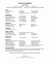 Child Actor Resume Template Free Download 50 Best Collection Sample