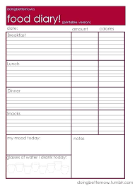 eating log food journal template diet diary healthy eating
