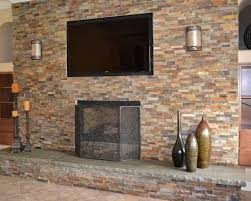 Natural Stone Fireplace Stunning Stone Veneer Over Drywall Fireplace And Diy Installing