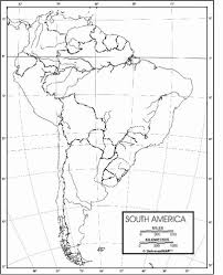 South America Outline Map From Onlyglobes Com