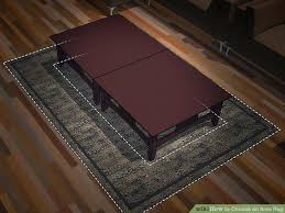 choosing an area rug image titled choose an area rug step 2 choosing area rug pad