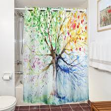 astounding cheap shower curtains shower curtains bed bath and beyond colorful tree font
