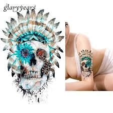 1 шт водонепроницаемый тела книги по искусству татуировки стикеры Km 043 племя