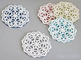 felt doily coasters by cutesy crafts one of a huge collection of diy drink coasters