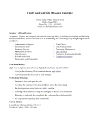 Resume Create A Quick Resume Fast Food Sample And Get Inspiration