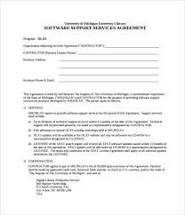 It Support Contract Template 9 Download Documents In Pdf