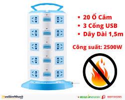 Ổ Điện Đa Năng 5 Tầng 20 ổ cắm 3 Cổng USB, Dây 1,5m, Chống Giật ,Chống Cháy  Nổ - MSN383222, Mới 100%, Giá: 235.000 - 0901383365, Cần bán/Dịch vụ ,  id-e5090000