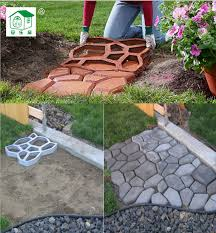 free path mate diy stone pavement mold for making pathways for your garden paving concrete garden ornamentsgarden