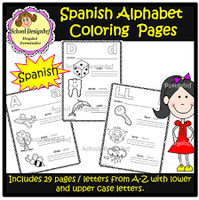This product can be purchased directly from bilingual planet $15.00 click to view. Spanish Alphabet Coloring Page Worksheets Teaching Resources Tpt